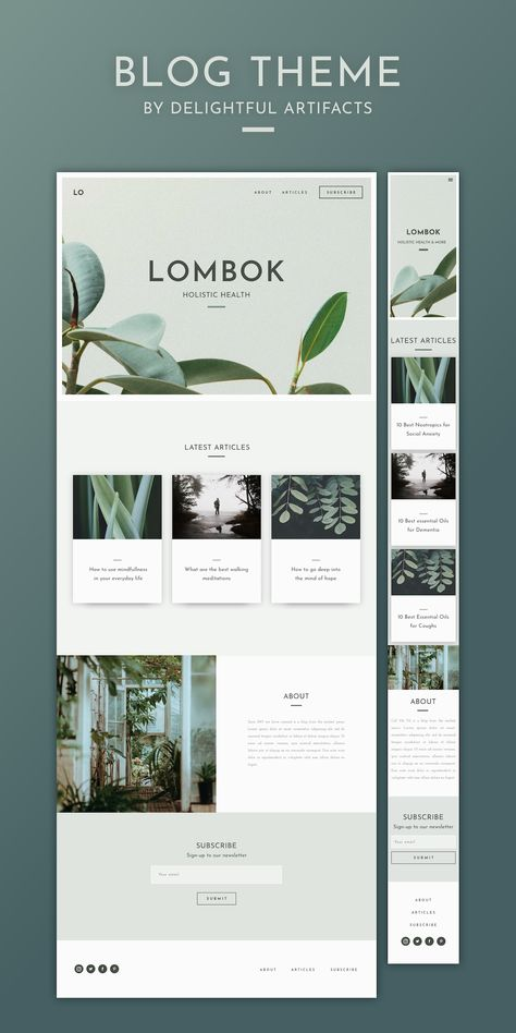 Looking for a stylish blog to tell your story? The Lombok blog is a responsive template - with a contemporary, natural design. It's the home your content deserves. Available now for an introductory price. Check out all of the designs now… Blog design   bl