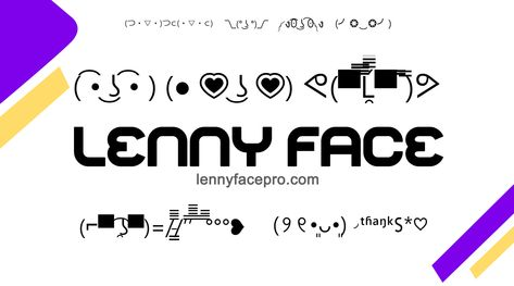 Lenny Face Face Cute Emoji Special Symbols