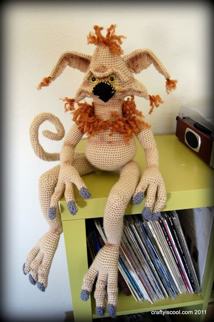 Amazing Crochet Salacious Crumb from Allison of Crafty is Cool #StarWars