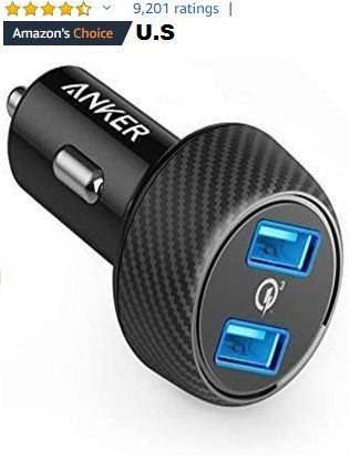 Car Charger, Anker Quick Charge 3.0 39W Dual USB Car Charger Adapter,  PowerDrive Speed 2 for Galaxy | Car usb, Charger car, Dual usb