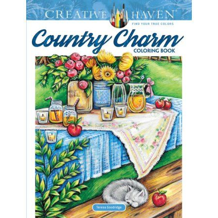 Country Charm Coloring Book Walmart Com Coloring Books Creative Haven Coloring Books Coloring Book Download