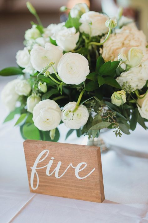 Simple homemade wood block wedding table number made with Cricut vinyl or iron on for classic wedding reception #cricut #diywedding #weddingdiy #diyprojects #weddings #weddingideas #wedding #cricutmade #cricutcrafts #diyweddings #weddingdecor #tablenumbers #weddingreception #classicweddings #rusticweddings