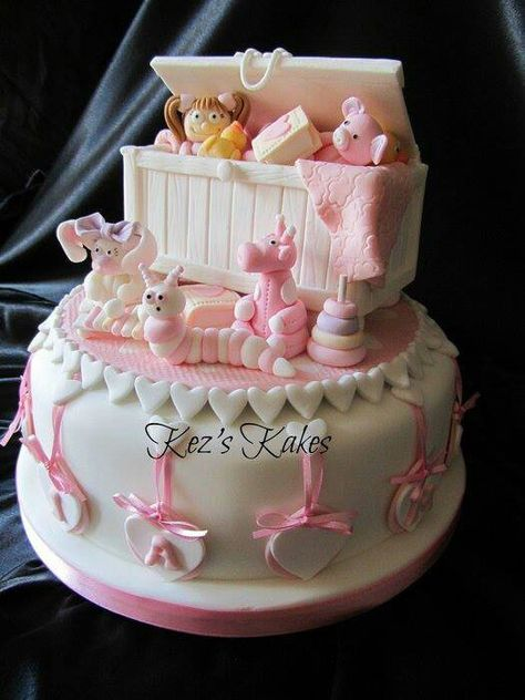 #amazingcakes#cakes#birthdaycakes. New Baby's Birth Cake, In View Of The Toys....Sorry...The Joys To Come!