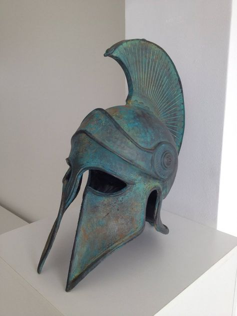 Ancient Greek Helmet Ancient Corinthian Helmet Greek Spartan | Etsy