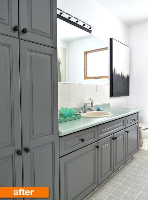 before after a bold but budget friendly bathroom makeover dream rh pinterest com
