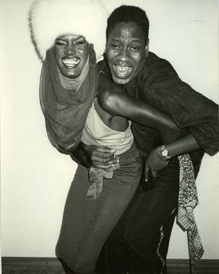 Andre Leon with Grace Jones Talley Studio 54