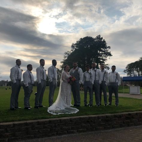 #weddingparty #weddingpartyattire #suspenders #groomsmen #brideandgroom #boutonniere #bouquet #weddingdress #weddingveil #longveil #graysuit #lacedress #longsleeveweddingdress #weddingpartypictures #golfcoursewedding #outdoorwedding #golfcoursepictures #ronjaworskiweddings #blueheronweddings #bohowedding #coastalwedding #woodsywedding #weddingphotography #weddingportrait #weddingpictures #weddingpictureideas #springwedding #summerwedding #fallwedding #njbride #njvenue #njwedding