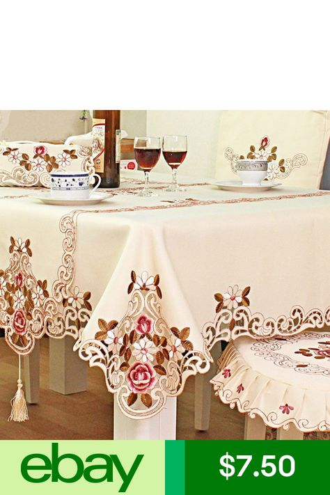 embroidered tablecloth home table decor lace rose cutwork restaurant rh pinterest com au