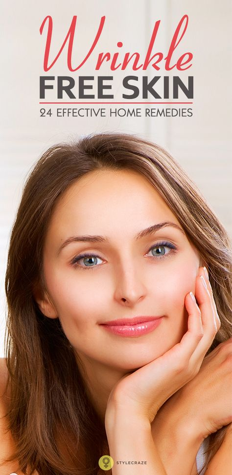 home remedies for wrinkle free skin