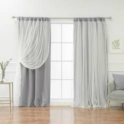 Efird Tulle Overlay Star Cut Out Blackout Thermal Grommet Curtain