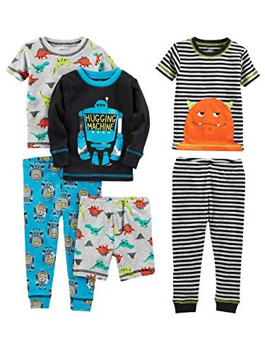 10 Cute Summer Pajamas For Toddler Boys In 2020 Baby Boy Outfits Cotton Pajama Sets Boy Outfits