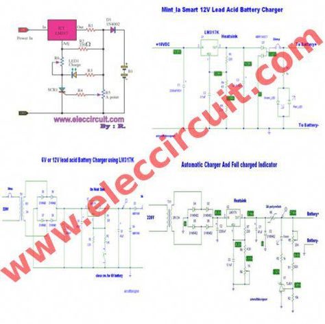 here are 4 lead acid battery charging circuit projects for 6v rh pinterest ie