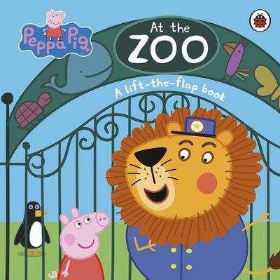 Peppa Pig: At the Zoo: A lift-the-flap book | Flap book, Peppa pig