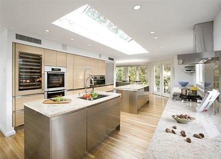 Modern big kitchen design ideas | My Dream Kitchen | Pinterest | Kitchen  design, Kitchens and Skylight