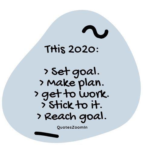 inspirational new year goals this set goal make plan