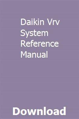 Daikin Vrv System Reference Manual | maetiofunthe