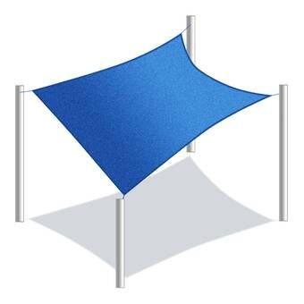 E Joy 20 Square Shade Sail Reviews Wayfair In 2020 Sun Sail Shade Shade Sail Sail Canopies