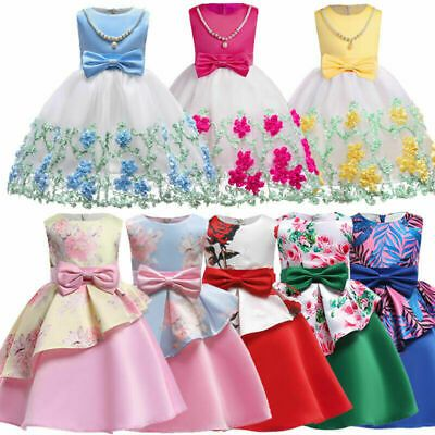 Formal tutu flower girl kid bridesmaid princess dresses dress party wedding baby