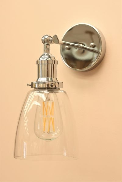 Simply Divine Colour Clear Glass Wall Lights Brass Wall Light Silver Lamp