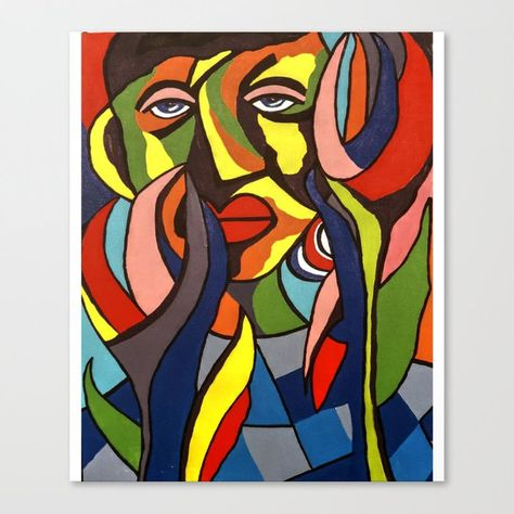 African Traditional Tribal Women Abstract Art Canvas Painting Series