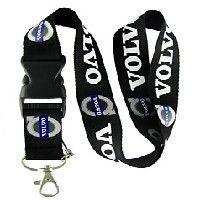 2072b956f Volvo Lanyard Keychain Badge Holder Snap Buckle Black | Balli Gifts