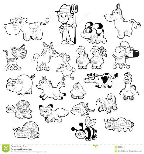 Baby Animal Clipart Black And White Gallery Desenhos Para Colorir Animais Da Fazenda E Paginas Para Colorir