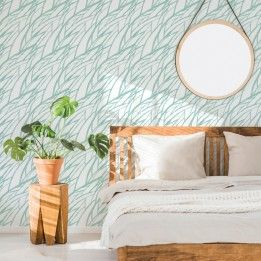 Reed Sea Glass Self Adhesive Removable Wallpaper Meet Tempaper S Little Sister Collection Fresh Pressed S Beach Bedding Sets Home Decor Luxury Duvet Covers