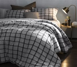 Frayed Edgings Twin Xl Comforter White Gray Bedding Sets