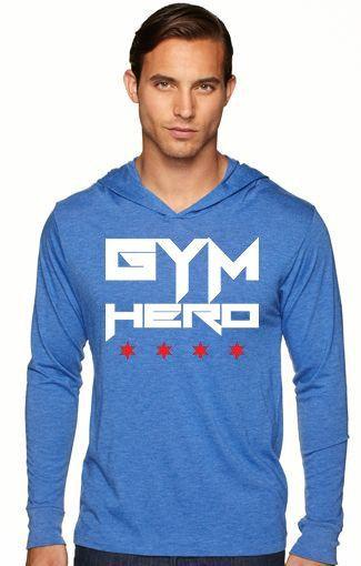 Gym Hero/Chicago Stars (Royal Blue Unisex Hooded Tee) - Royal Blue / L