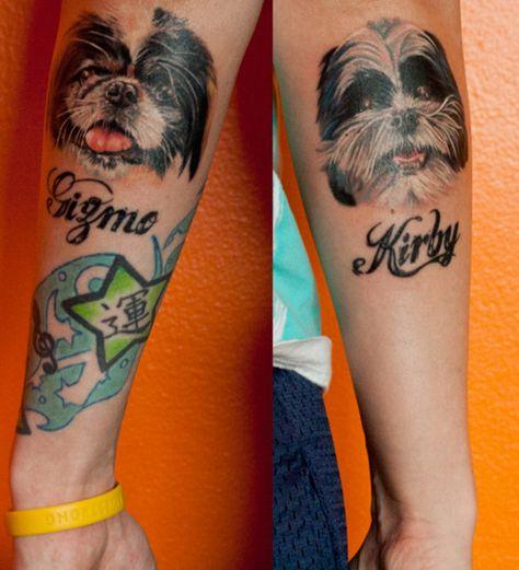 Shih Tzu Tattoo Emlei Dog Tattoos Dog Portrait Tattoo