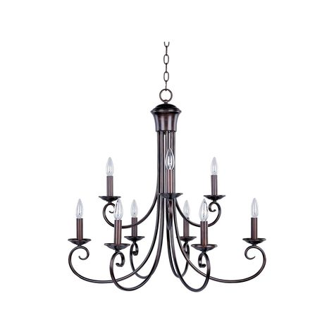 This luxurious fixture from Maxim Lighting features a bronze finish to add elegance and beauty to your home.