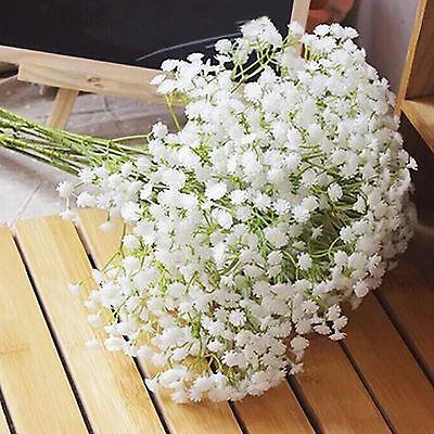 1 Head Romantic Baby S Breath Gypsophila Silk Flower Party Wedding Home Decor Bouquet Home Decor Fake Flower Bouquet Dried Flowers Diy