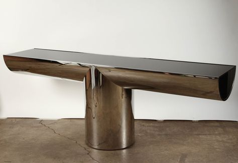 j wade beam for brueton stainless steel tee console table surface rh pinterest com