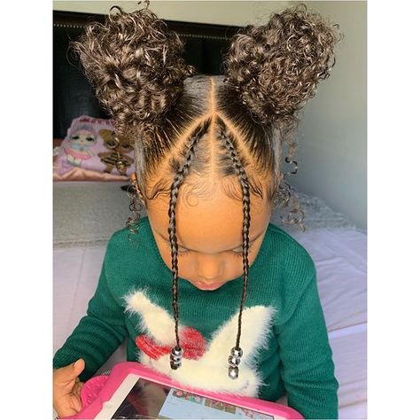 Black Girl Braided Hairstyles, Cute Little Girl Hairstyles, Girls Natural Hairstyles, Baby Girl Hairstyles, Natural Hairstyles For Kids, Baddie Hairstyles, Black Toddler Girl Hairstyles, Mixed Kids Hairstyles, Curly Hair Styles