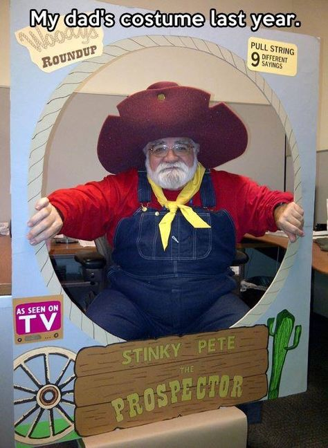 The Prospector - Disney- Toy Story cosplay costume Disney Cosplay, Disney Costumes, Cool Costumes, Cosplay Costumes, Costume Ideas, Costumes Kids, Creative Costumes, Adult Costumes, Wicked Costumes