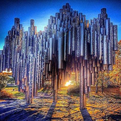 Sibelius Monument, Helsinki... Sibelius a Finnish violinist & symphonic composer.1865 - 1957.