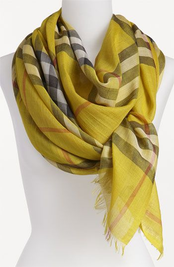 Burberry Giant Check Print Scarf available at