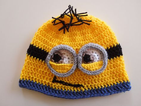 Minion Crochet Pattern Crochet Beanie Easy Crochet Pattern