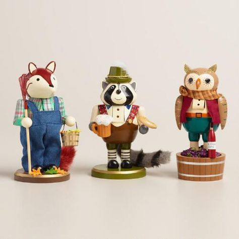 One of my favorite discoveries at WorldMarket.com: Animal Nutcrackers,  Set of 3