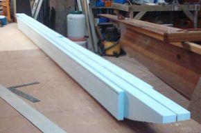 Foam And Fiberglass Ama Construction Boatplanspontoon Boat Building Wooden Boat Building Boat Plans