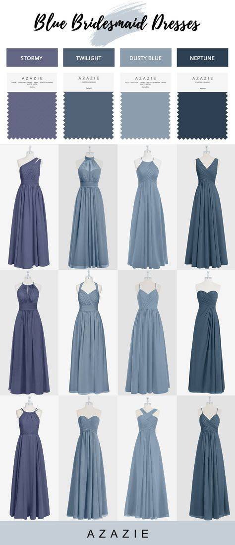 Shop for a large variety of dusty blue bridesmaid dresses at Azazie. With bridesmaid dresses from Azazie, you are sure to find a dusty blue bridesmaid dress for the perfect look for your wedding. Light Blue Bridesmaid Dresses, Azazie Bridesmaid Dresses, Winter Bridesmaids, Blue Bridesmaids, Light Blue Cocktail Dress, Cocktail Dresses, Dusty Blue Dress, Twilight, Party Dresses