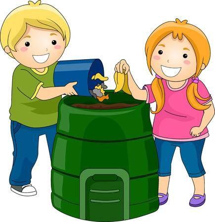 Ilustracion De Little Kids Tirando Basura En Un Cubo De Compostaje En 2020 Imagenes Animadas De Ninos Proyectos De Arte Para Ninos Medio Ambiente Dibujo