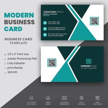 Simple Modern Business Card Template Business Card Design Creative Graphic Design Business Card Modern Business Cards