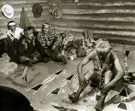 Navaho Healing Ceremony. Silver print by Wm. R. Heick, 1963 http://www.williamheick.com/photography/william-heick