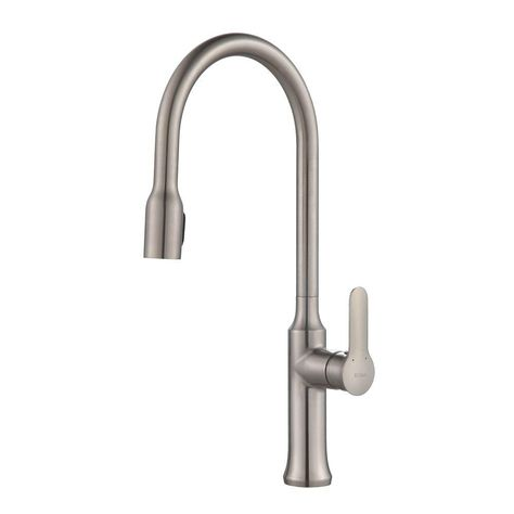 kraus nola single handle concealed pull down kitchen faucet with rh pinterest com au