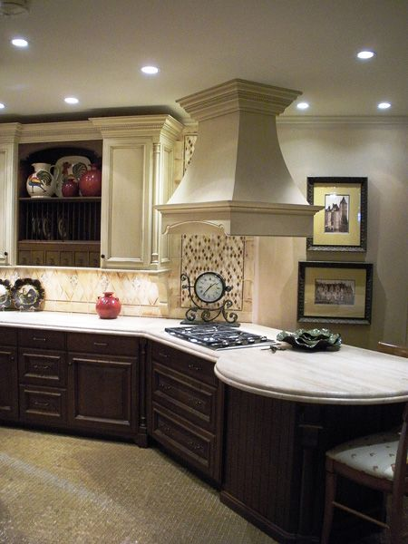White Upper Cabinets Dark Lower Cabinets | Base Cabinets Are Dark Stained  Cherry While Wall Cabinets And | {Kitchen Ideas} | Pinterest | Base Cabinets,  ...