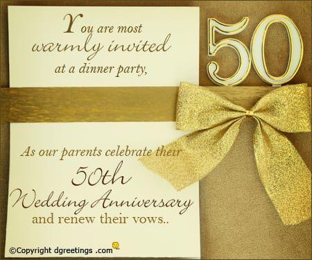 50th Anniversary Invitation Cards 50th Wedding Anniversary Invitations Wedding Anniversary Invitations Golden Anniversary Invitations