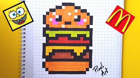 Comment Dessiner Un Hamburger Kawaii Youtube Pixel Art