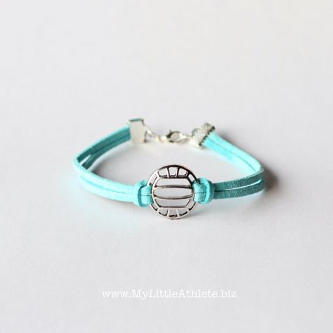 Volleyball Bracelet Faux Suede Volleyball Jewelry Volleyball Team Gifts Volleyball Accessories