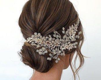 Wedding Headpiece Wedding Hair Piece Bridal Hair Pieces Crystal Bridal Hair Piece Wedding Hair Accessories Bridal Hair Vine Bridal Hair Clip Bridal Hair Clip Wedding Hair Clips Wedding Hair Head Piece